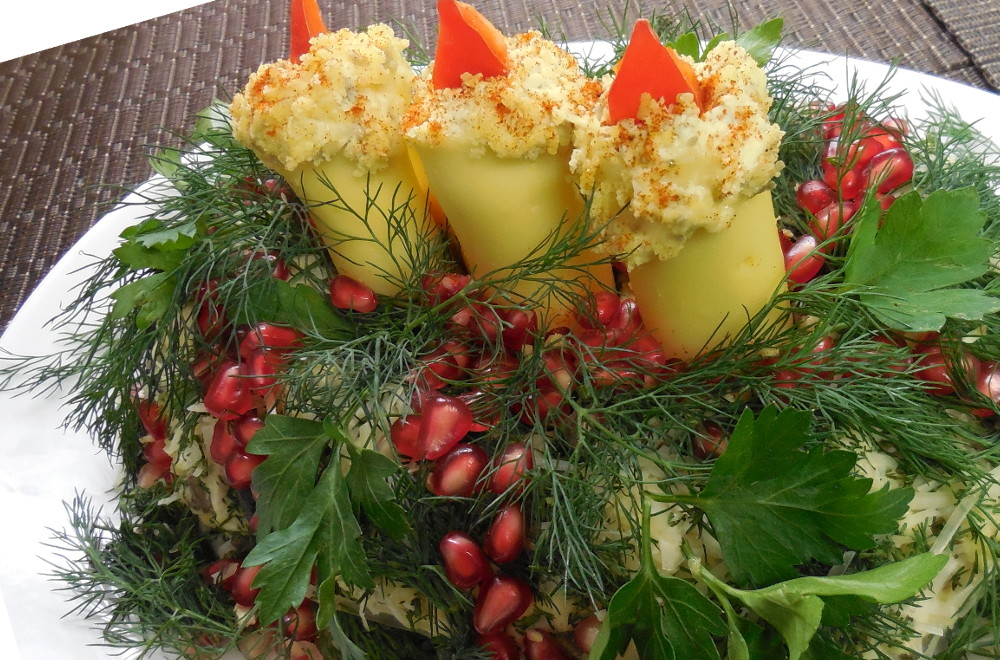 Салат свеча