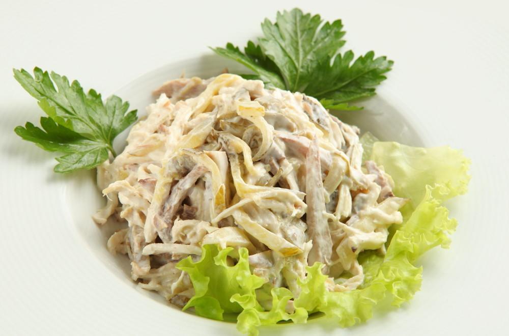 рецепт тЮплый салат из телятины