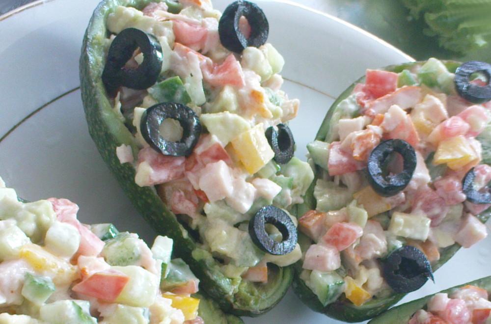 салат лодочки из авокадо