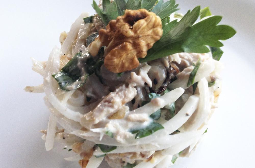 Оригинальный салат Ташкент, рецепт приготовления.