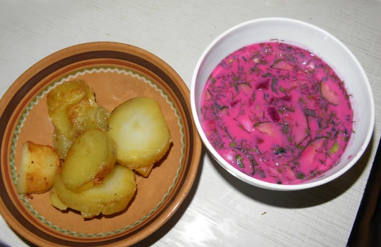 Литовский борщ холодный рецепт с фото пошагово
