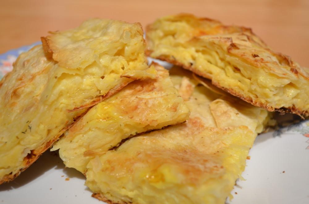 Шедевральный пирог из лаваша с сыром в духовке