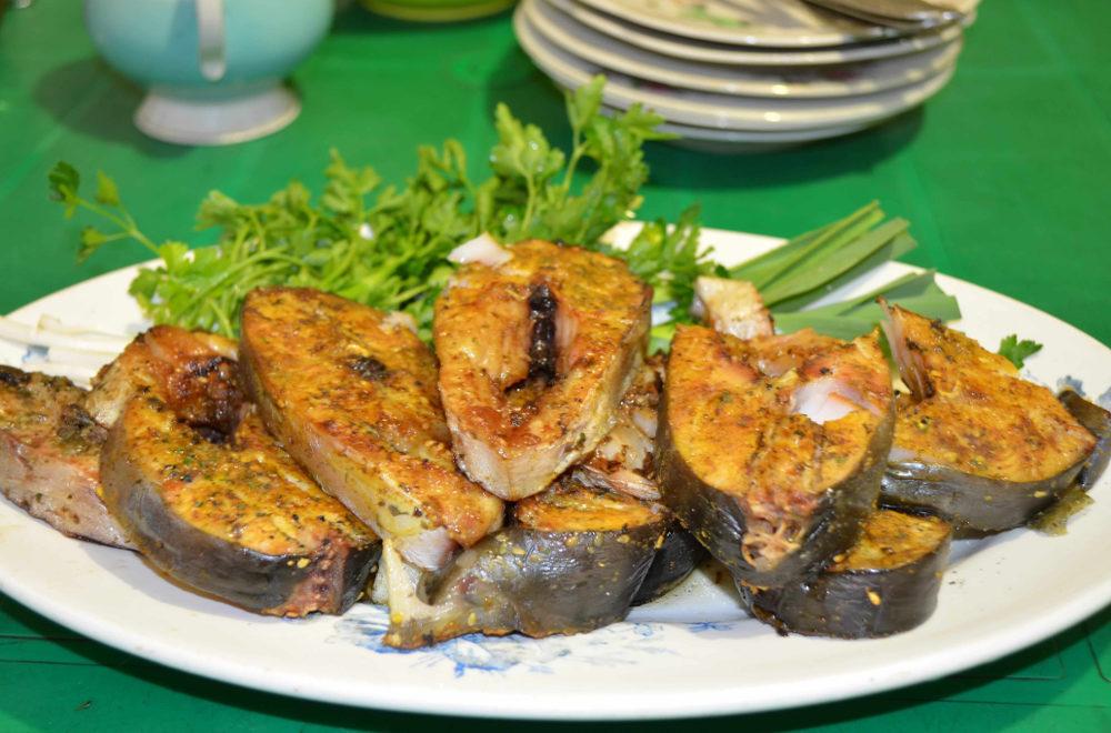 Сочная рыба на мангале.  Рецепты с фото
