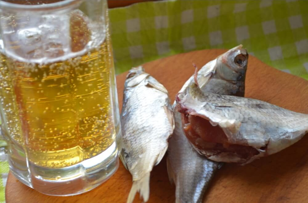 Вяленая рыба – идеальная закуска к пиву.