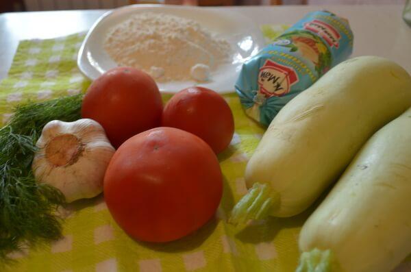 Ингредиенты для жареных кабачков