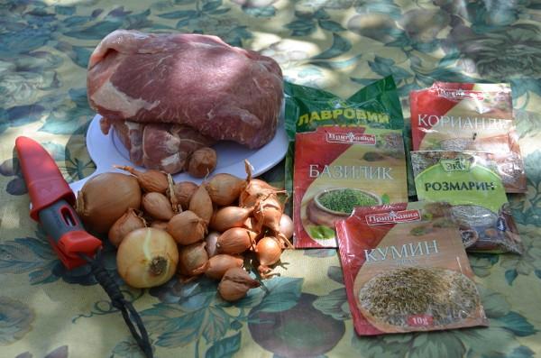 Ингредиенты для шашлыка
