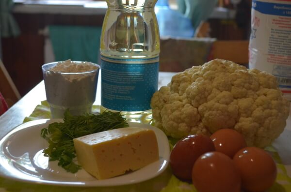 Ингредиенты для приготовления цветной капусты в кляре