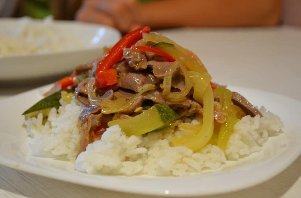 Рецепт приготовления куриных желудков с овощами по-китайски
