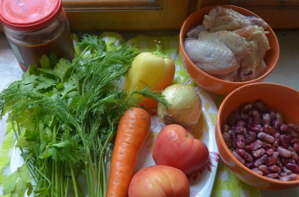 Ингредиенты для куриного супчика