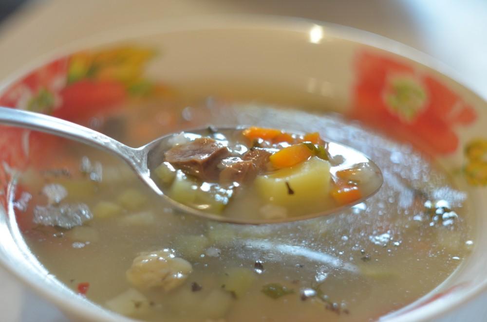 Суп рассольник рецепт классический с рисом