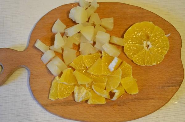 Рецепт торта с желе и фруктами