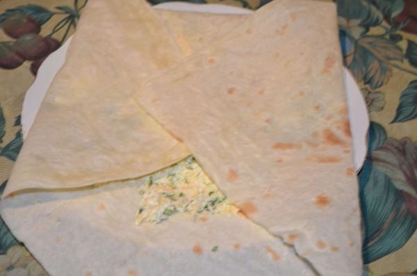 Закуски из лаваша с начинкой из сыра на мангале