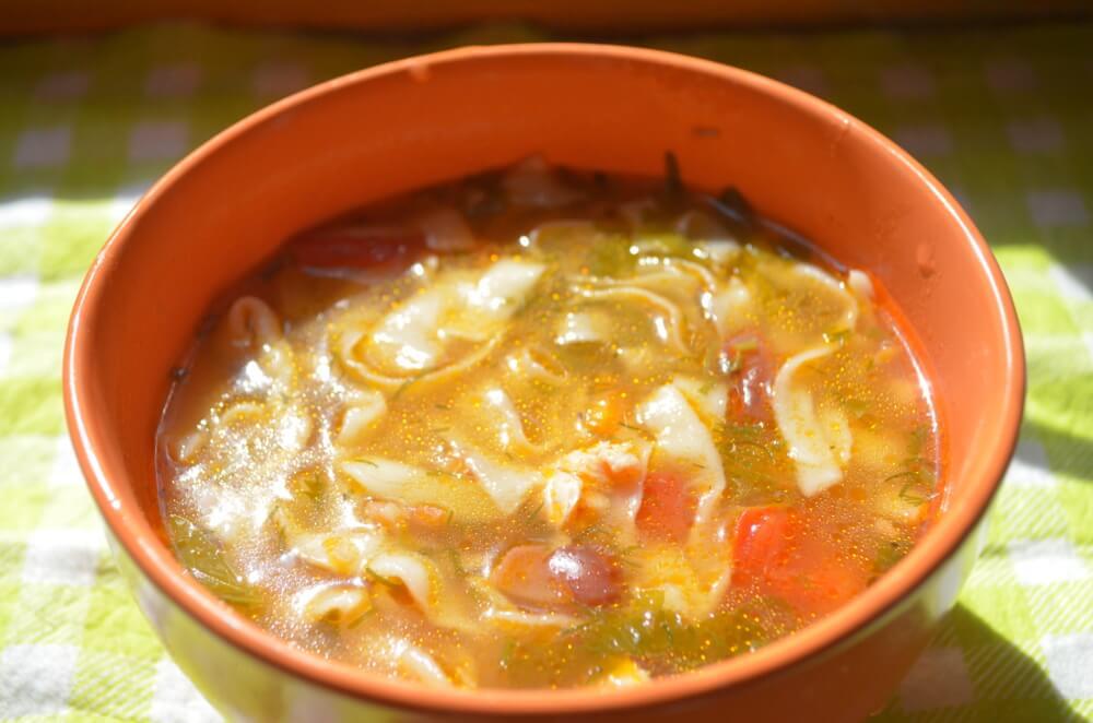 Куриный суп с домашней лапшой. Пошаговый рецепт с фото